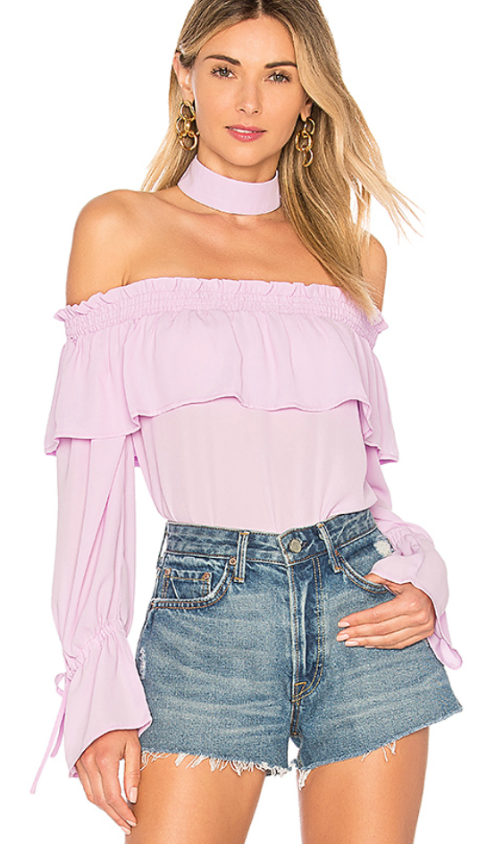by the way. OLIVE OFF SHOULDER TOP $50