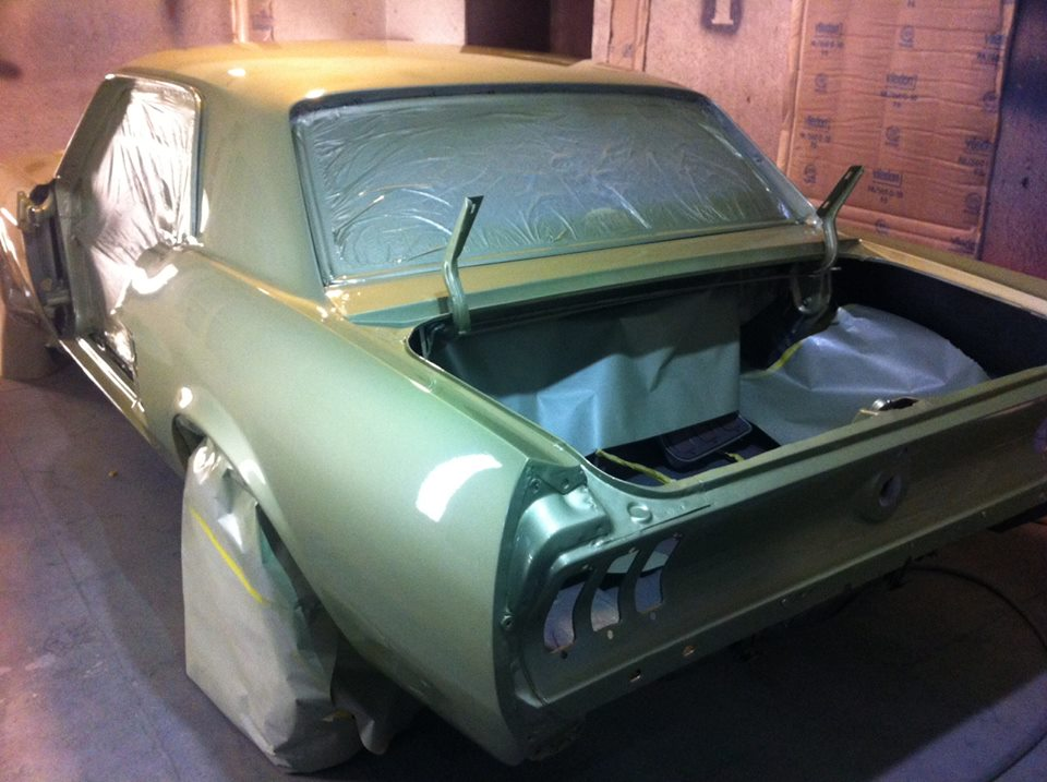 Back to Life - The car was stripped down, fixed up and given a new coat of the Legendary Lime. Modern base coat and clear coat was used along with some extra wet sanding to give this classic a modern shine.