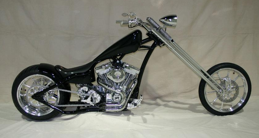 Nomad - Classic chopper. Up and Out. Black and Chrome