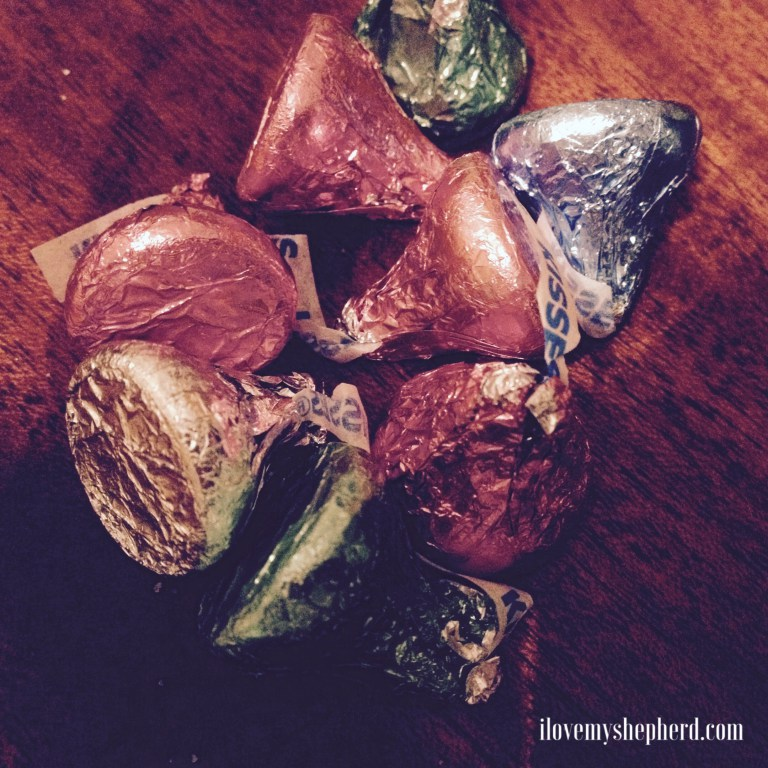 Betrayed with a kiss – Hershey kisses