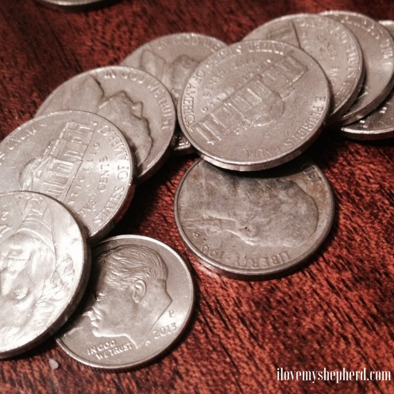 Judas's payment- silver coins