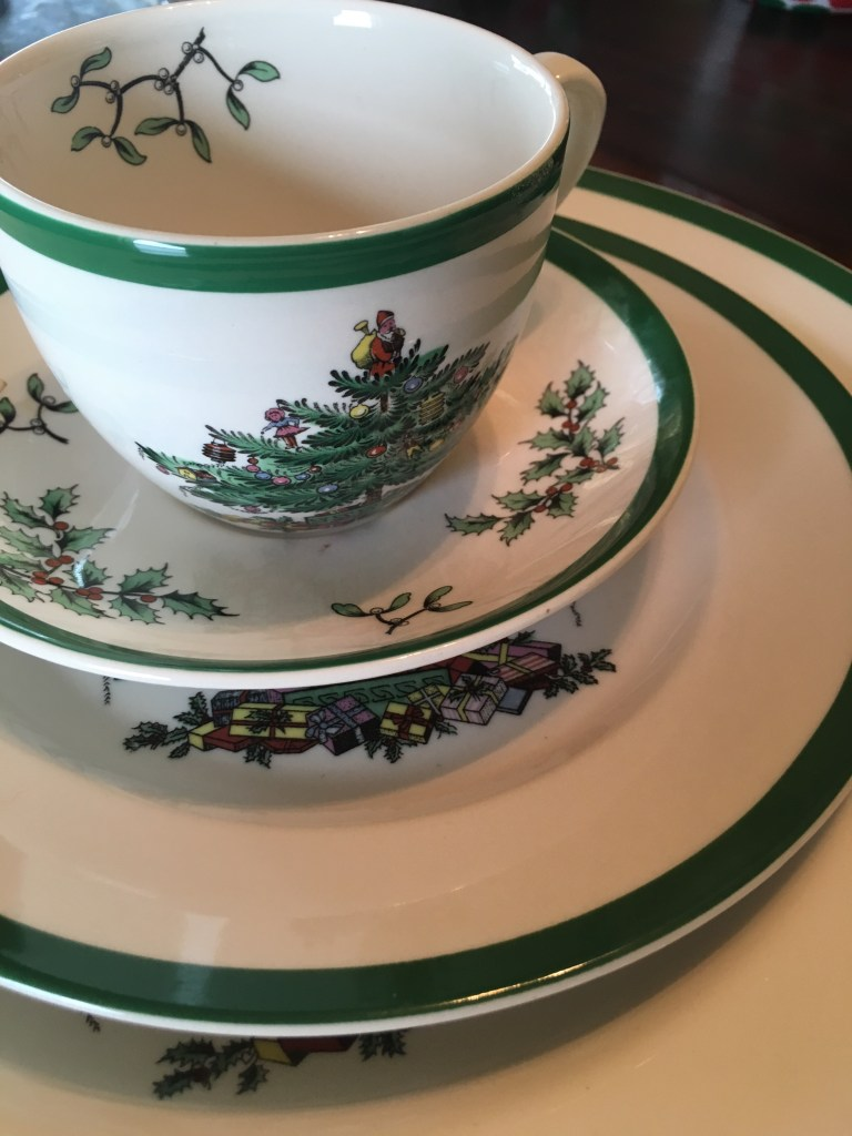My Spode dishes were handed down to me from my mom, who knew how much I loved them. Thanks, Mom!