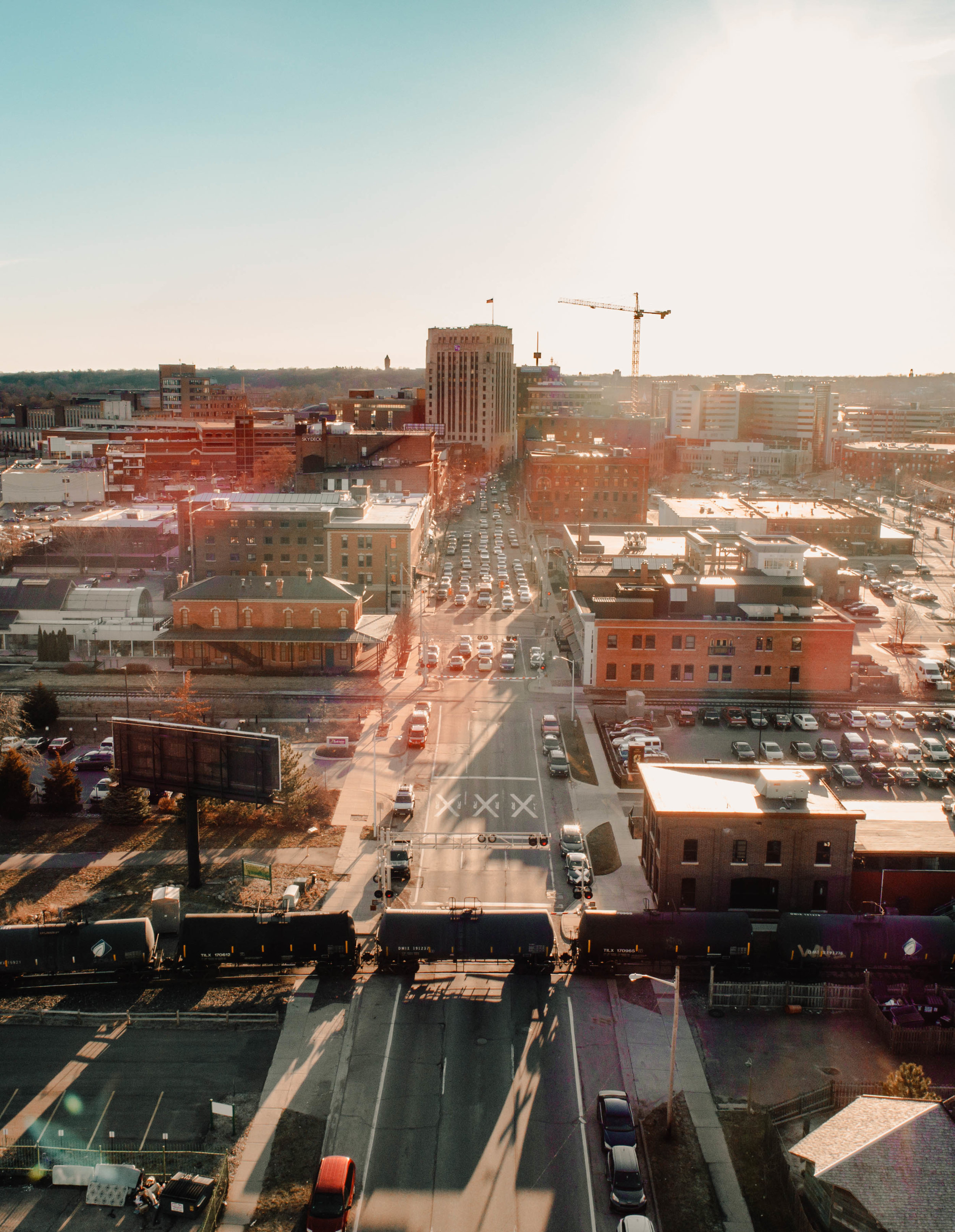 Downtown Bozeman Drone Aerial Picture