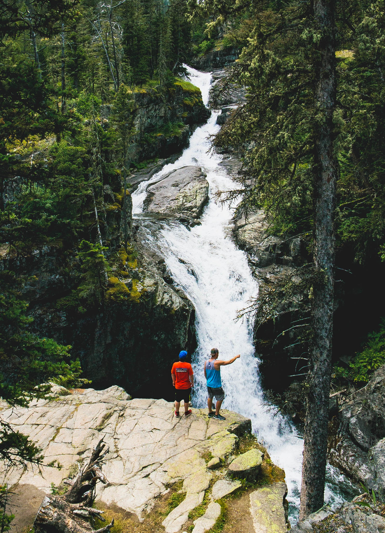 Waterfall in the Crazy Mountains