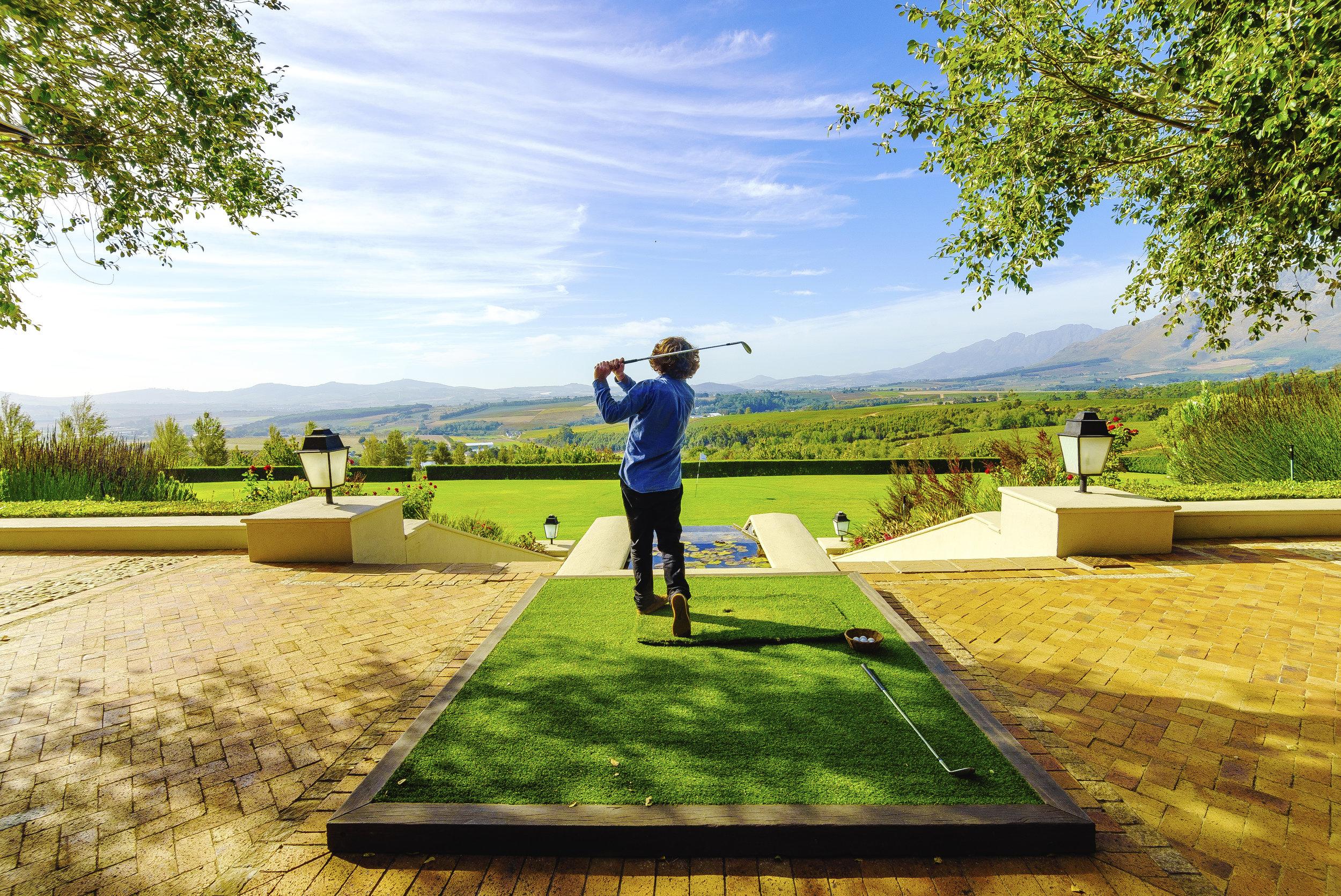 Golf at Ernie Ells Winery