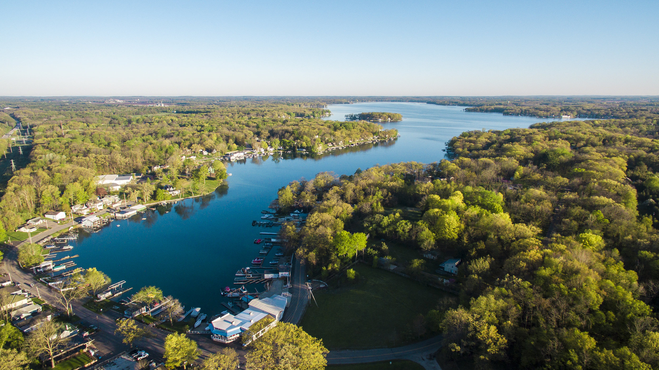 Gull Lake Drone Picture