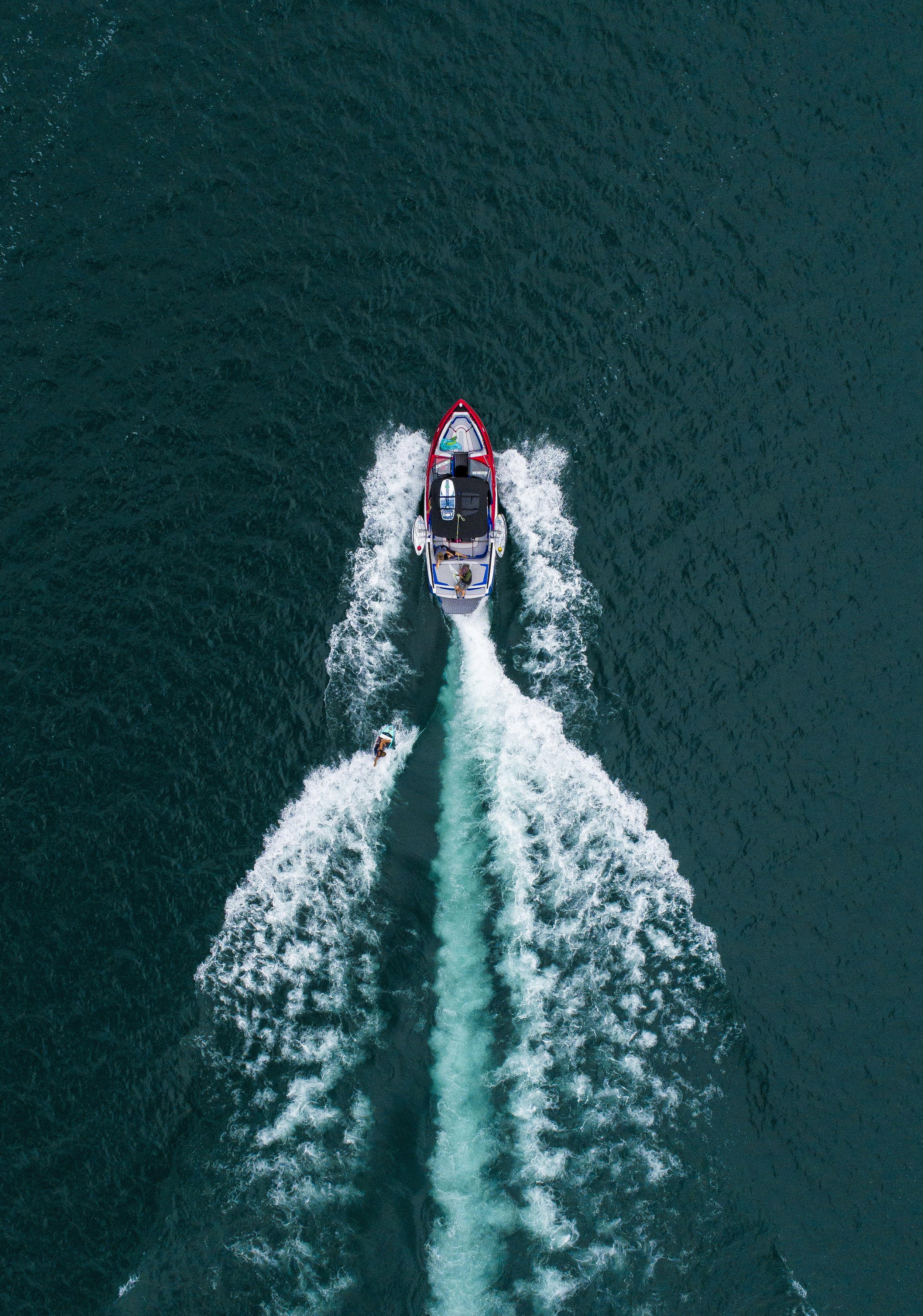 Wakesurfing on Gull Lake