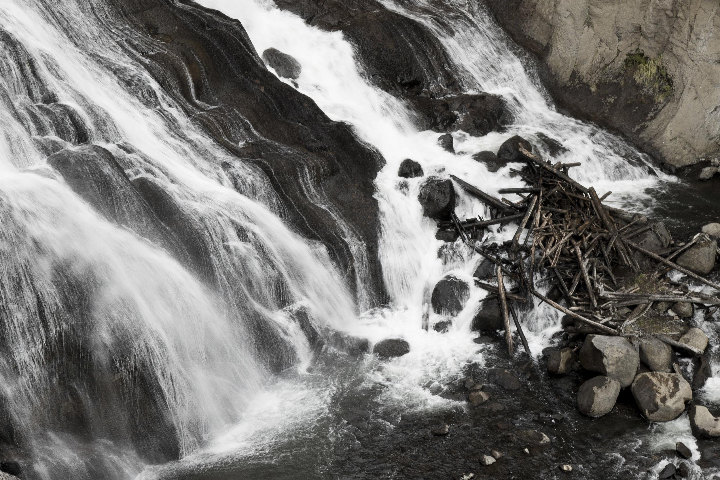 Waterfall onto rocks