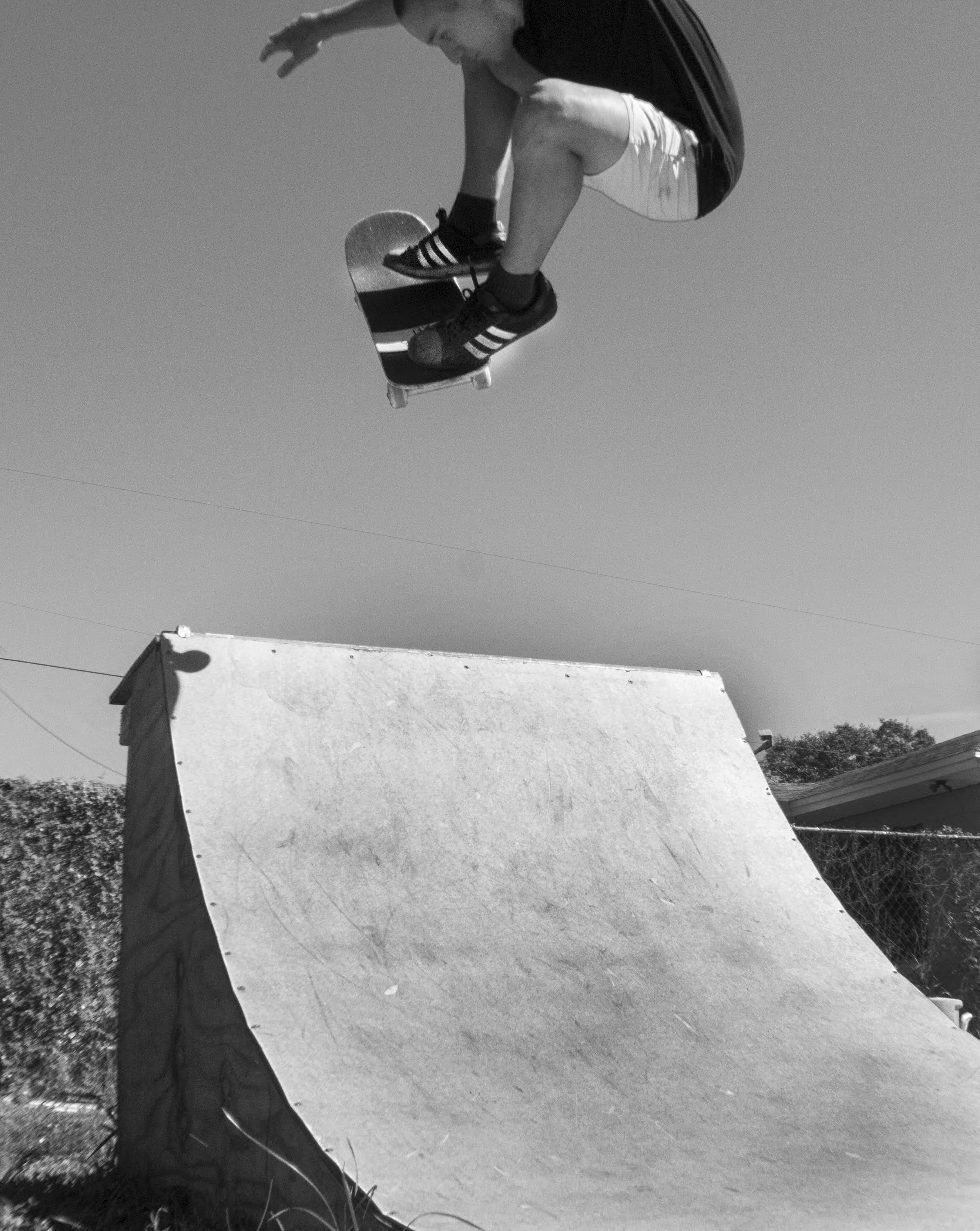 Skateboarder Airing Out