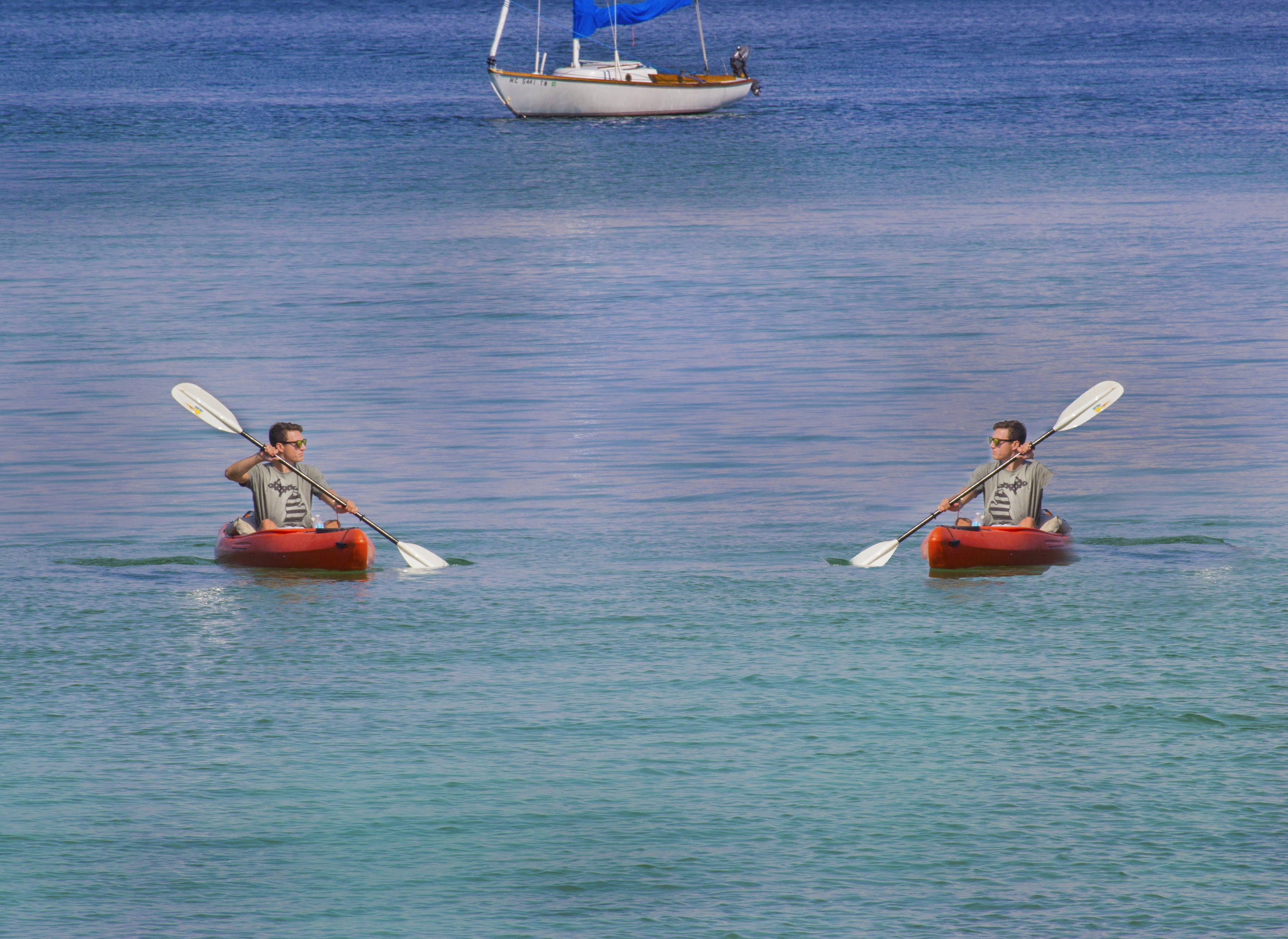 Mirrored Kayaker Picture