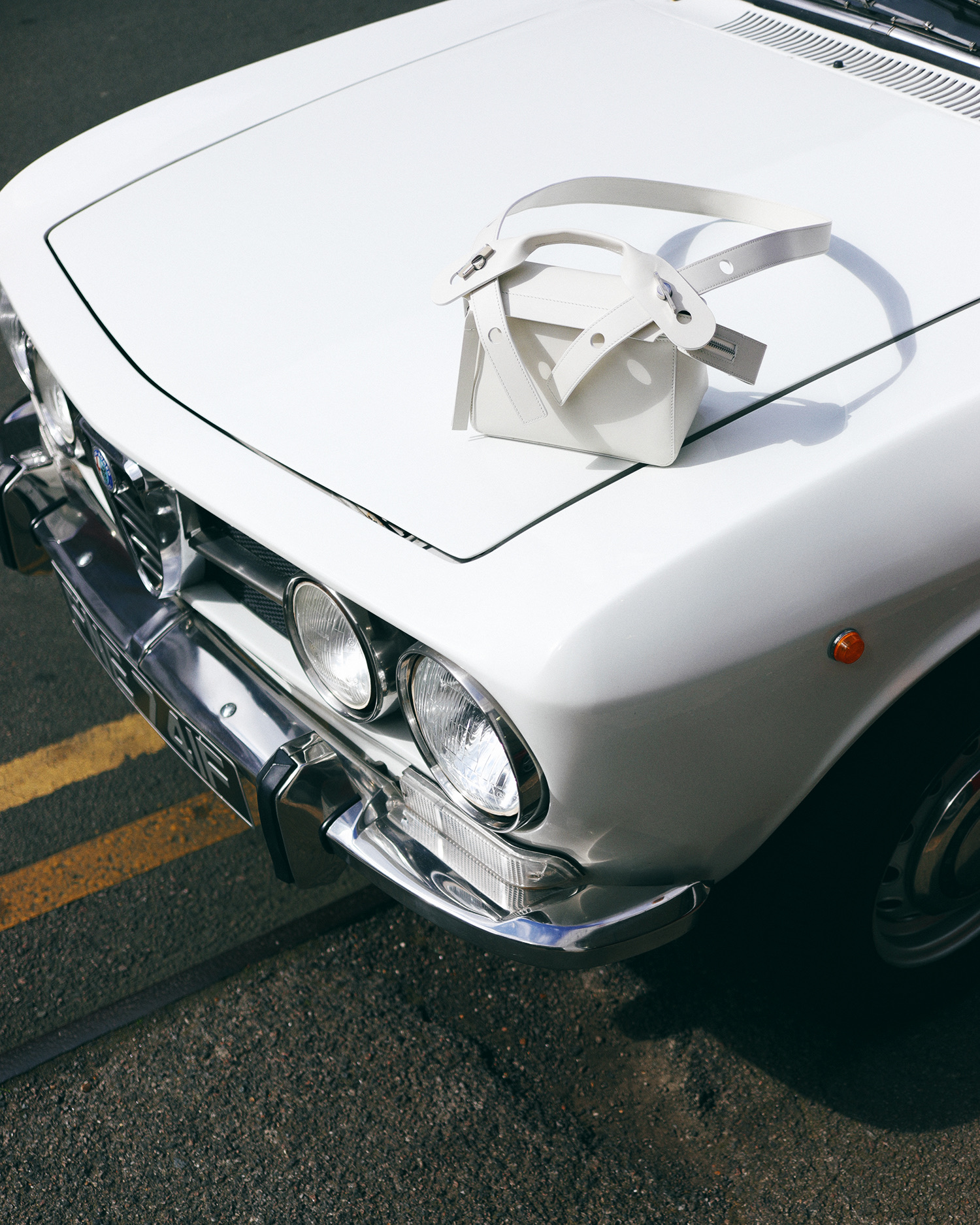 White car fashion shoot