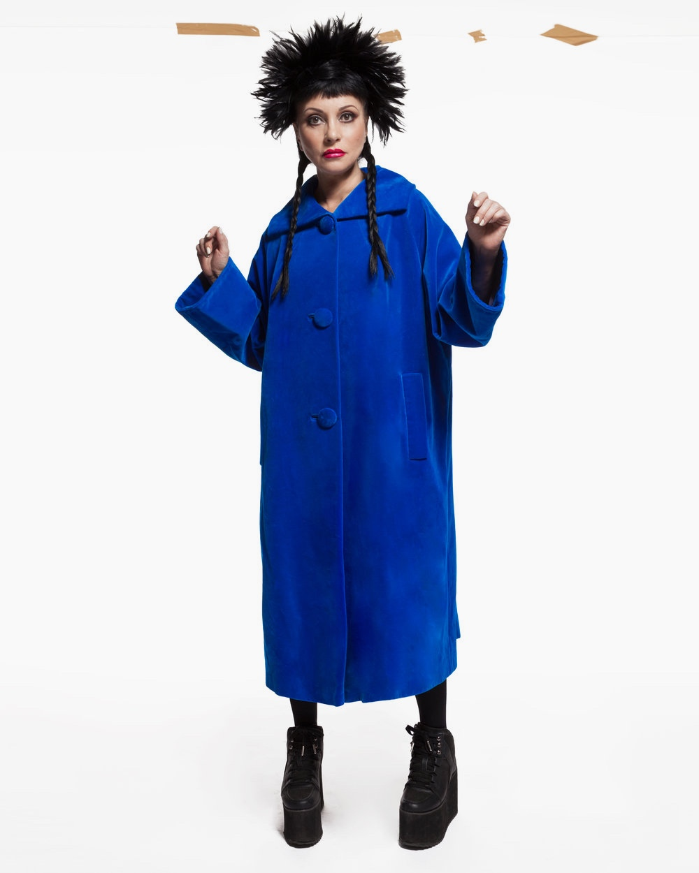 Blue+60s+coat+London