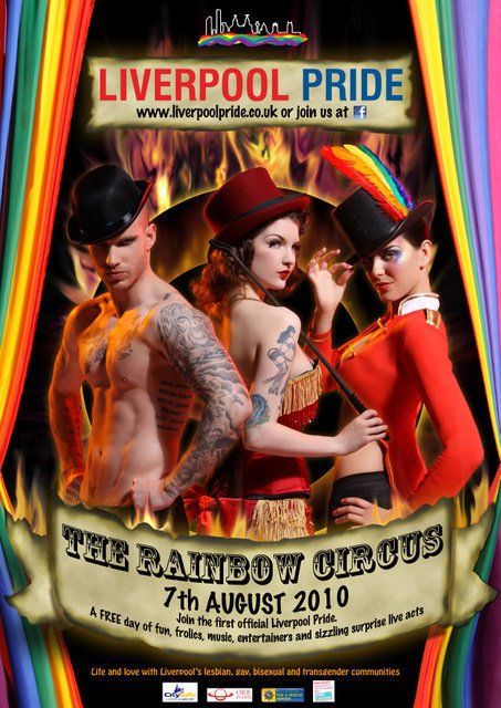 The first Gay Pride Poster for Liverpool.