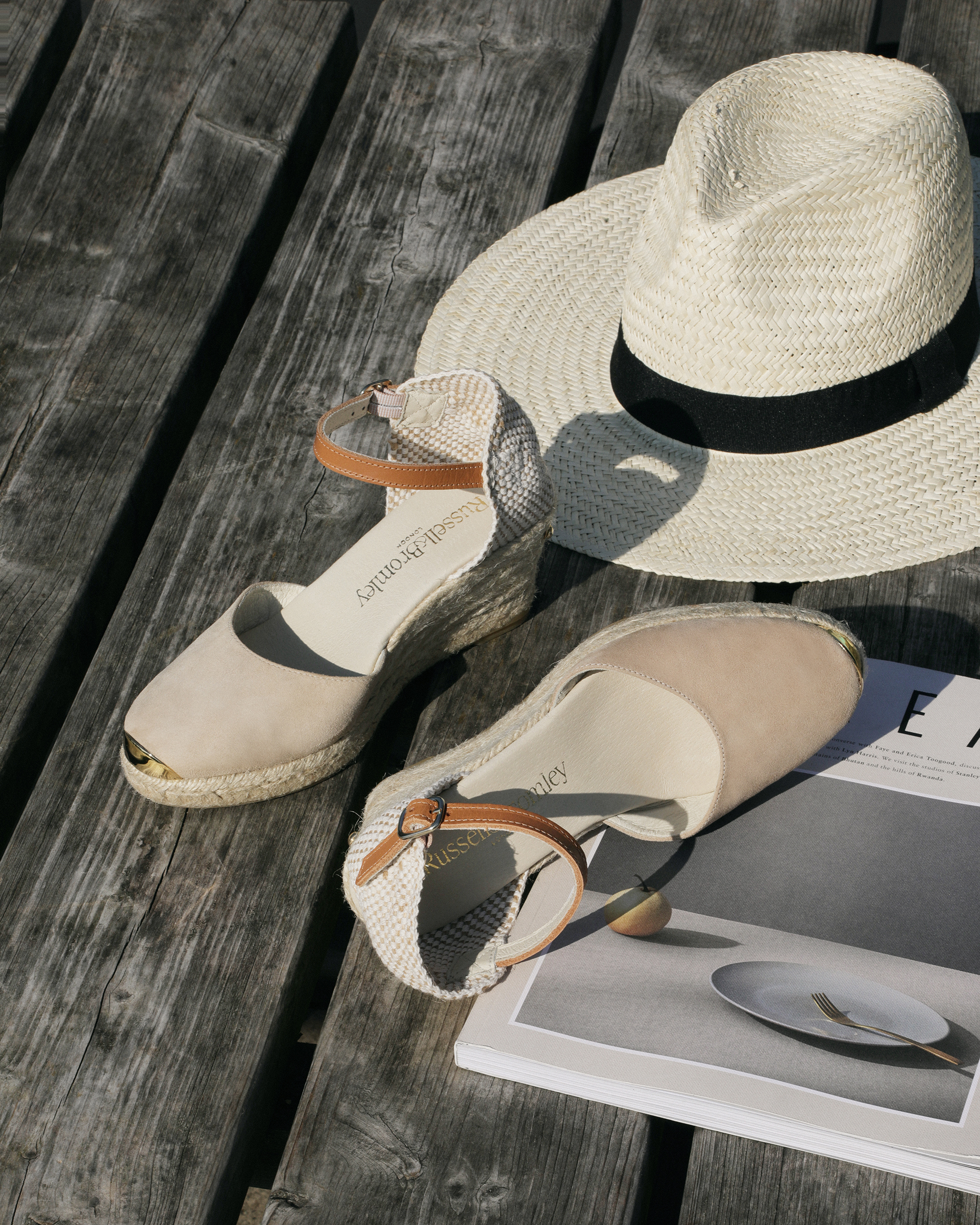 Russell and bromley shoe still life photography- Summer