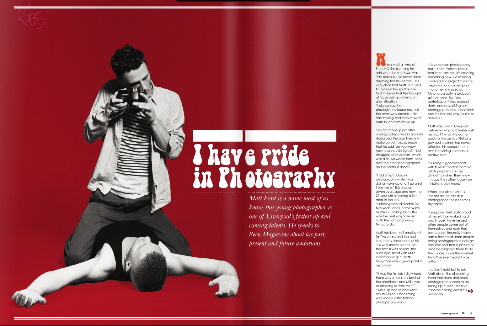 Article in Local Gay Mag
