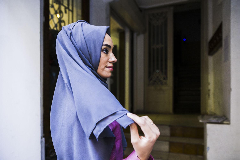 Hülya Aslan, an Instagram influenceron Islamic fashion.