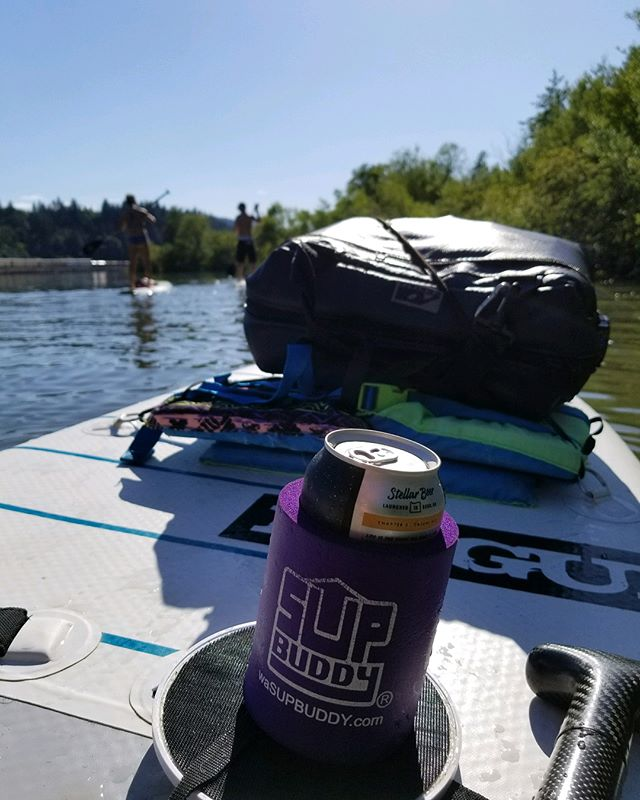 Endless days of summer are almost upon us... let the adventures begin 🌞🌊🍻 . Whether it's a day long downwind or some afternoon cruisin'... never paddle alone, always bring your @supbuddy! . . . #sup #isup #summer #standuppaddle #suporegon #columbiarivergorge #hoodriver #getoutside #paddle #sun #river #adventure #explore #supbuddy #cheers