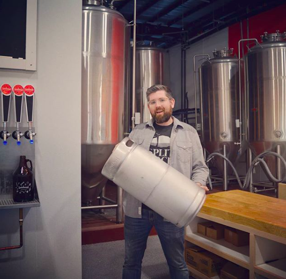 - Say hi to Chris! Chris Conway is our, well, we're calling him our General Manager (and co-owner), but really that means that he does a little of everything around the brewery from brewing with Christina, to delivering kegs, to setting up the taproom, to social media, to warehouse organizing, to sweeping, to… really a bit of everything. Chris is a passionate advocate for more beer and better beer in Newfoundland and has been writing about Newfoundland's beer history for years over at newfoundlandbeer.org. Just this morning Chris was on the radio with Paddy Daly at VOCM talking about how amazing the next few years will be for Newfoundland beer for tourists and local drinkers (that should be up on vocm.com later today!). As we round the corner and start looking at brewing our first batches later this month, Chris is looking forward to less sawing, nailing, painting, and piping and more talking to you all about the beer we'll be offering at Landwash Brewery!