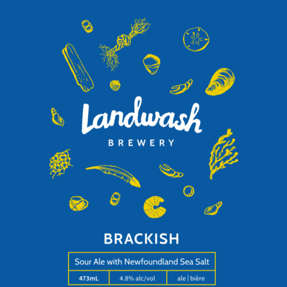 Brackish   Sour Ale w/Newfoundland Sea Salt (4.8% alc/vol)  Featuring the beautiful sea salt from Newfoundland Salt Company,  Brackish  is our interpretation of a German Gose (pronounced gose-ah), a tart and refreshing wheat ale. Instead of the traditional coriander, we've used Citra hops to add more bight lemony and orange aromatics.   Taproom
