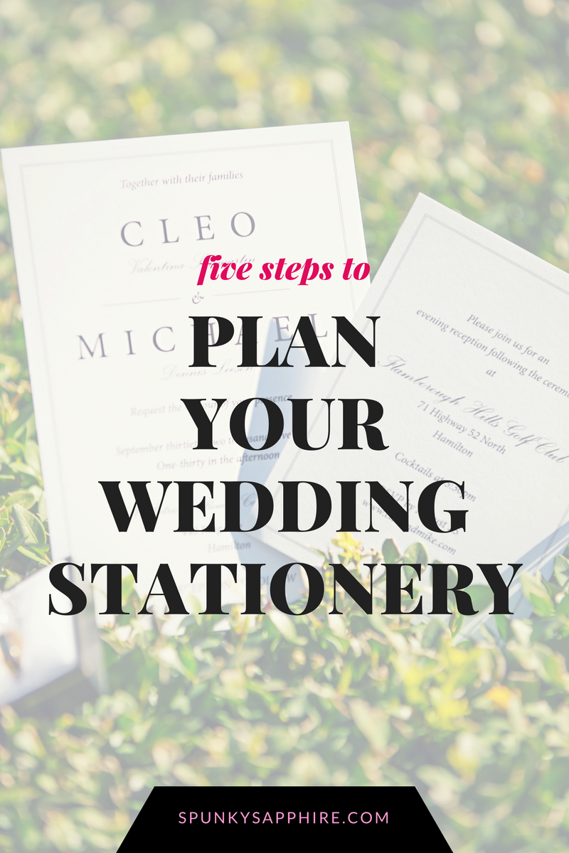 How to Plan Wedding Stationery