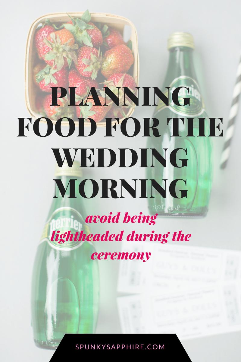 wedding morning snacks