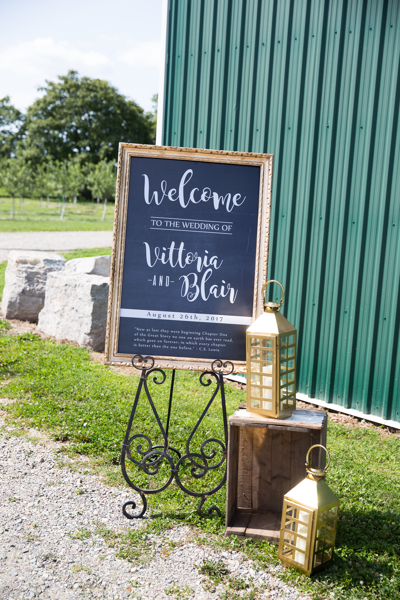 Orchard Wedding Sign