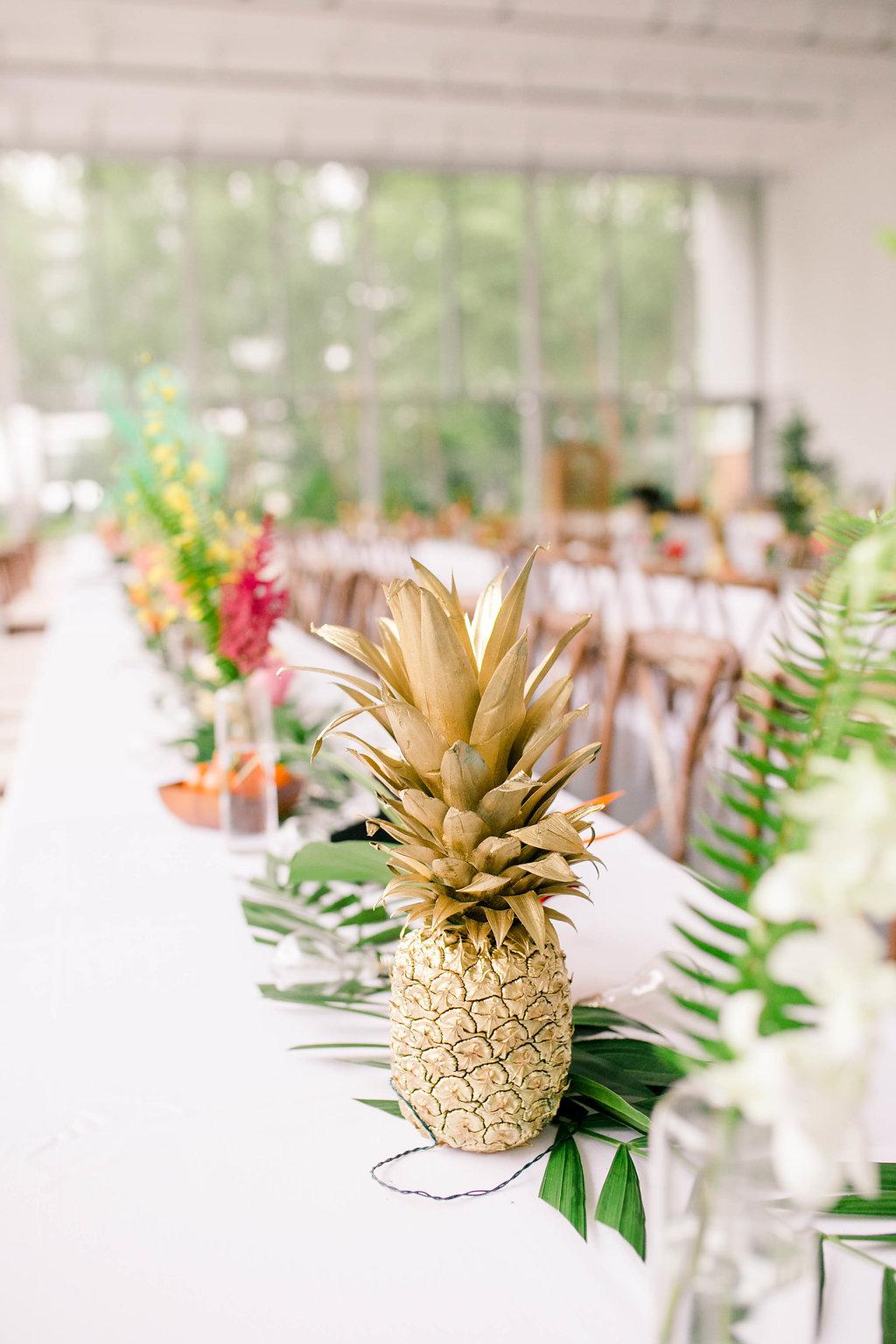 Gold Pineapple Wedding