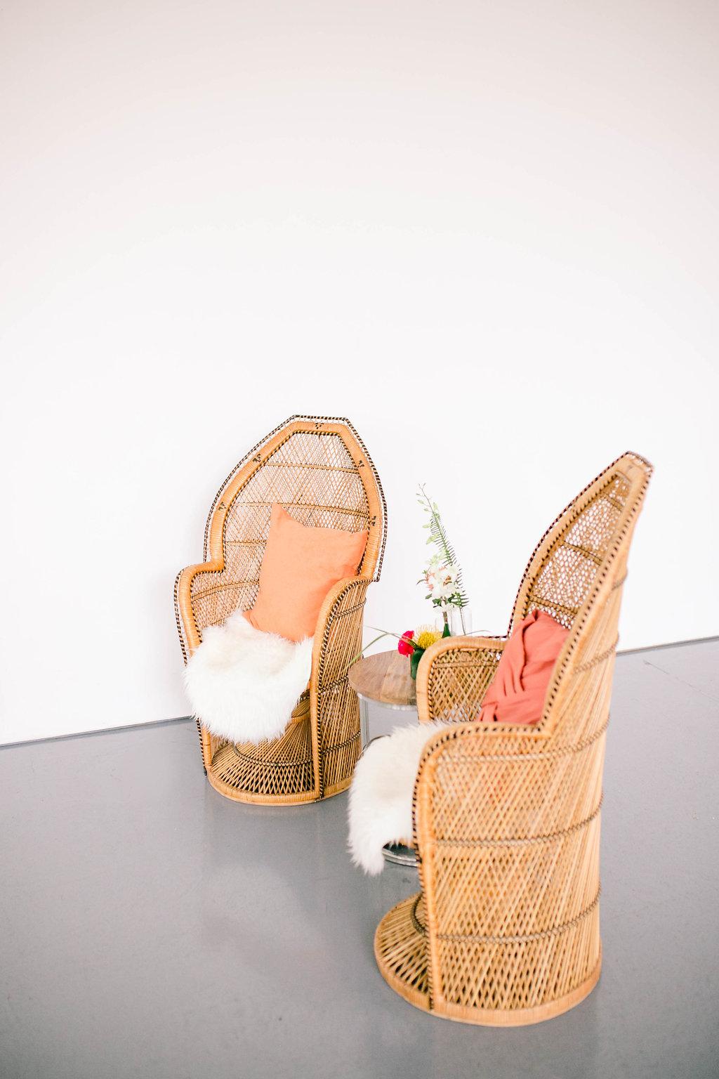 Retro peacock chairs / Art Gallery of Hamilton