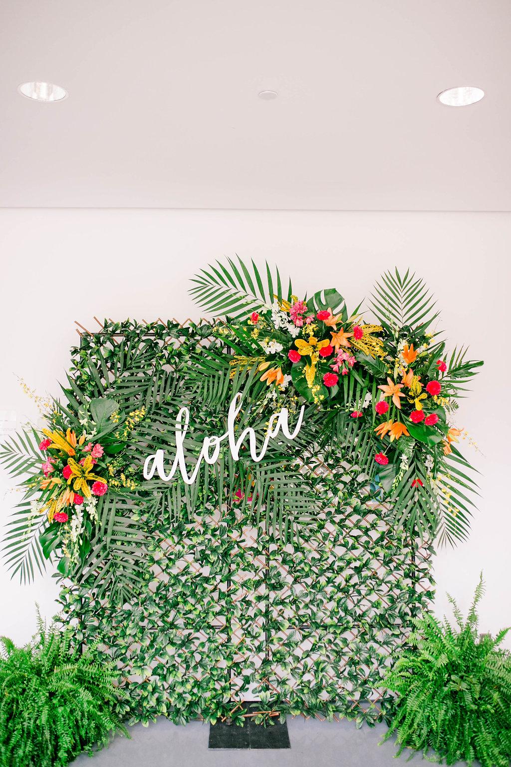 Aloha wedding photo booth