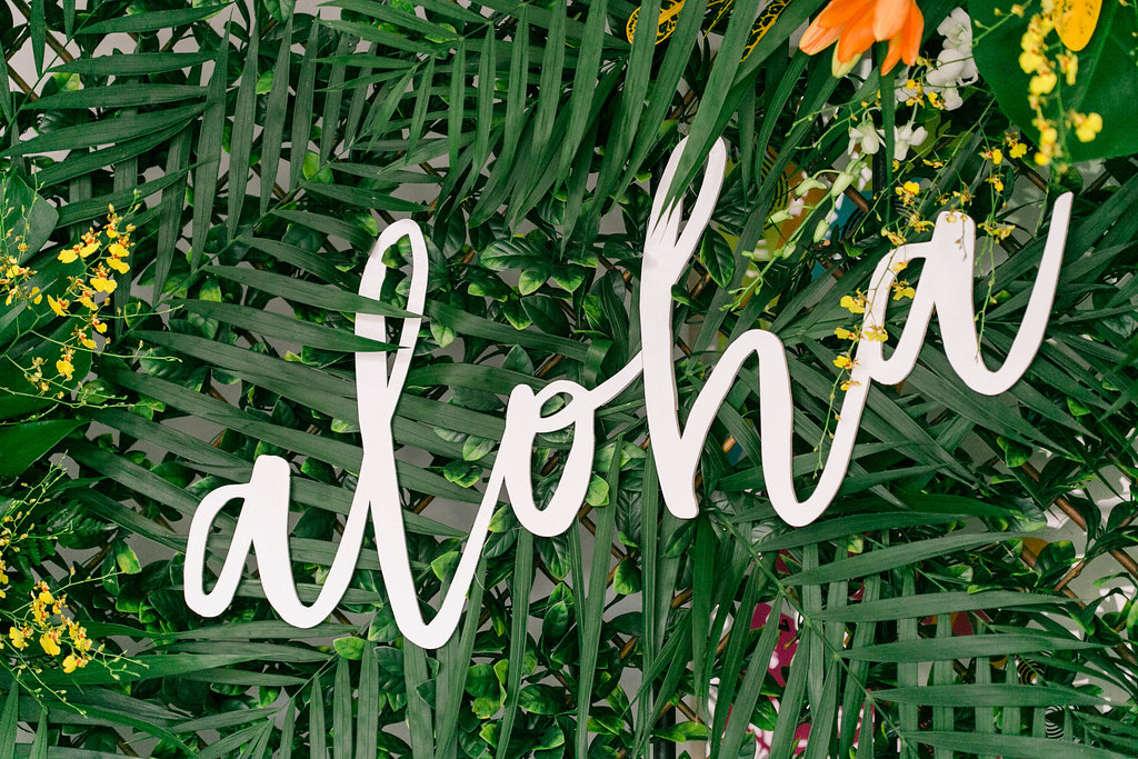 Aloha laser cut sign