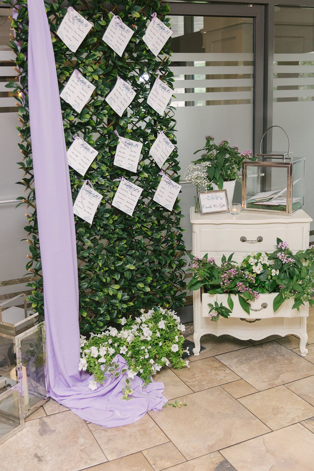 Purple Vintage Garden Seating Chart | spunkysapphire.com