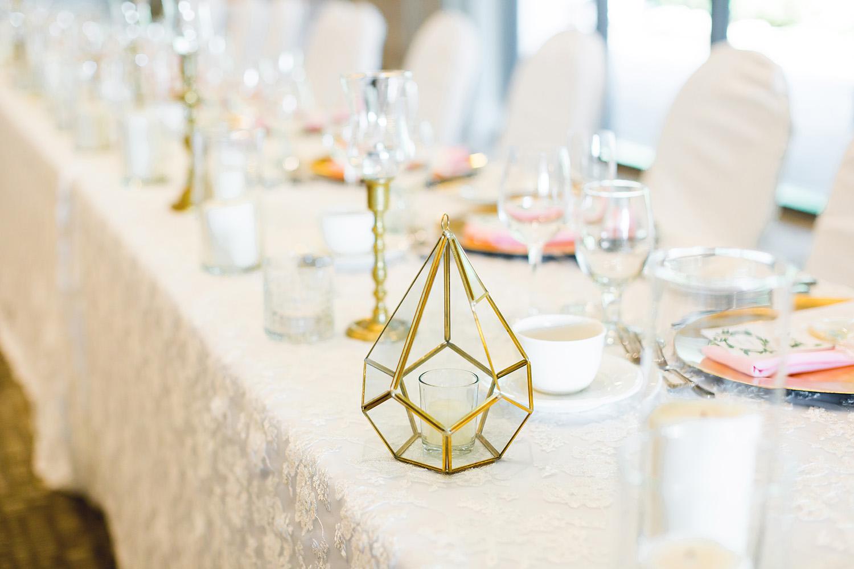 Gold Geo Wedding Decor // spunkysapphire.com/blog