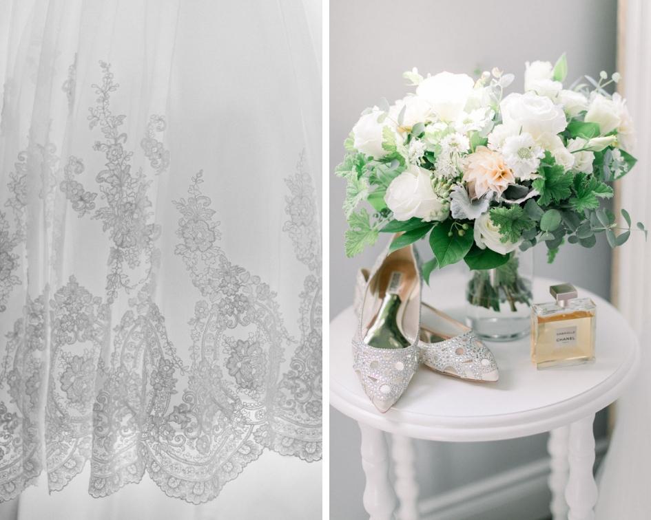 Badgley Mischka wedding shoes // spunkysapphire.com/blog