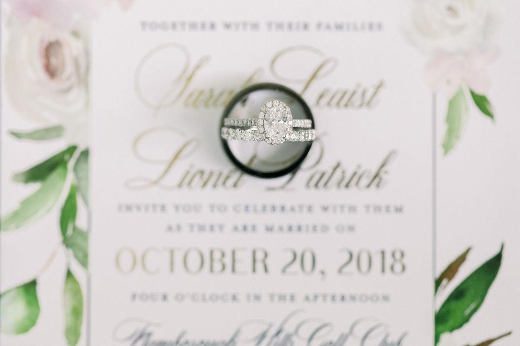 Blush Burgundy Floral invitation, princess cut engagement ring diamond // spunkysapphire.com/blog