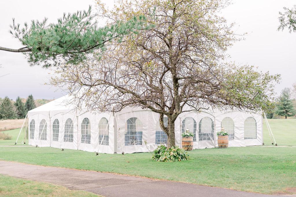 Wedding ceremony tent // spunkysapphire.com/blog