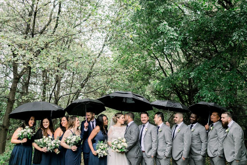 Rainy Wedding Day Photos // spunkysapphire.com/blog