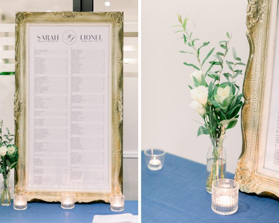 Alphabetical Wedding Seating Chart // spunkysapphire.com/bog