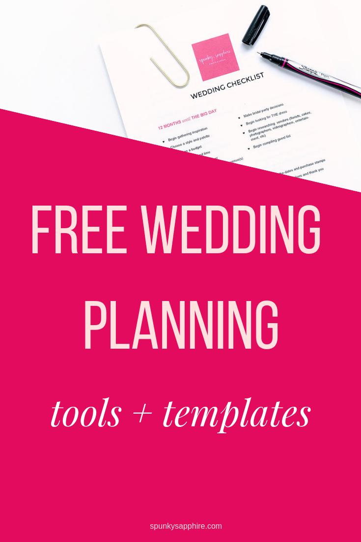 Free Wedding Planning Printables Templates - spunkysapphire.com