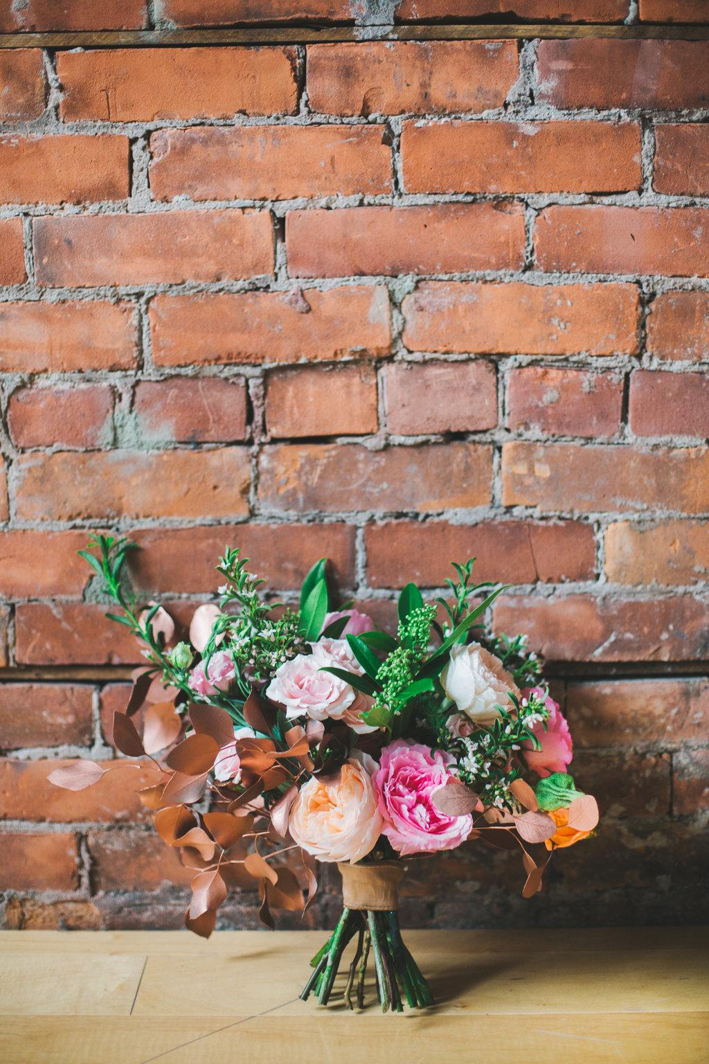 Copper Pink Bridal Bouquet - spunkysapphire.com