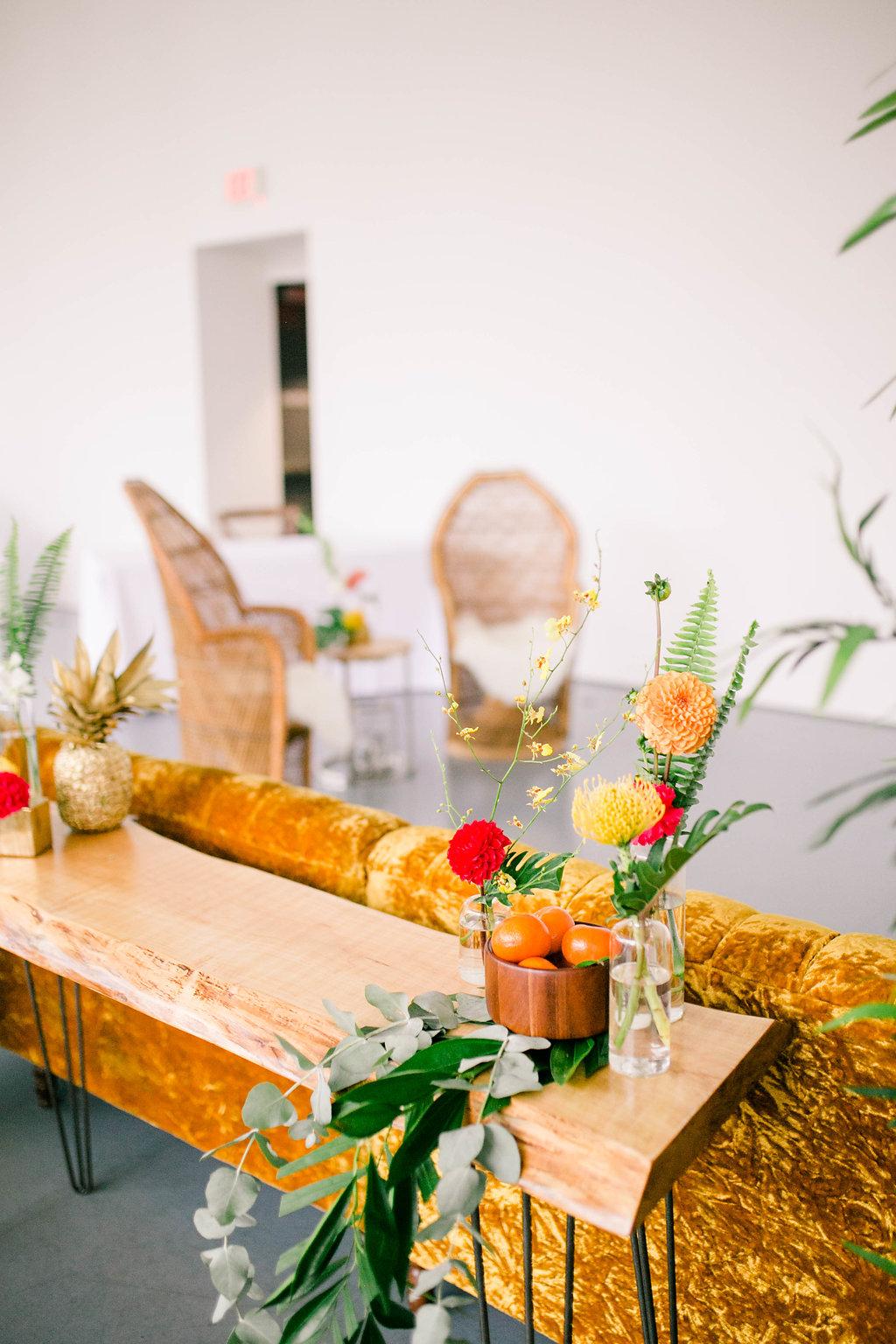 Retro Midcentury Modern Wedding Lounge Area Art Gallery of Hamilton - spunkysapphire.com