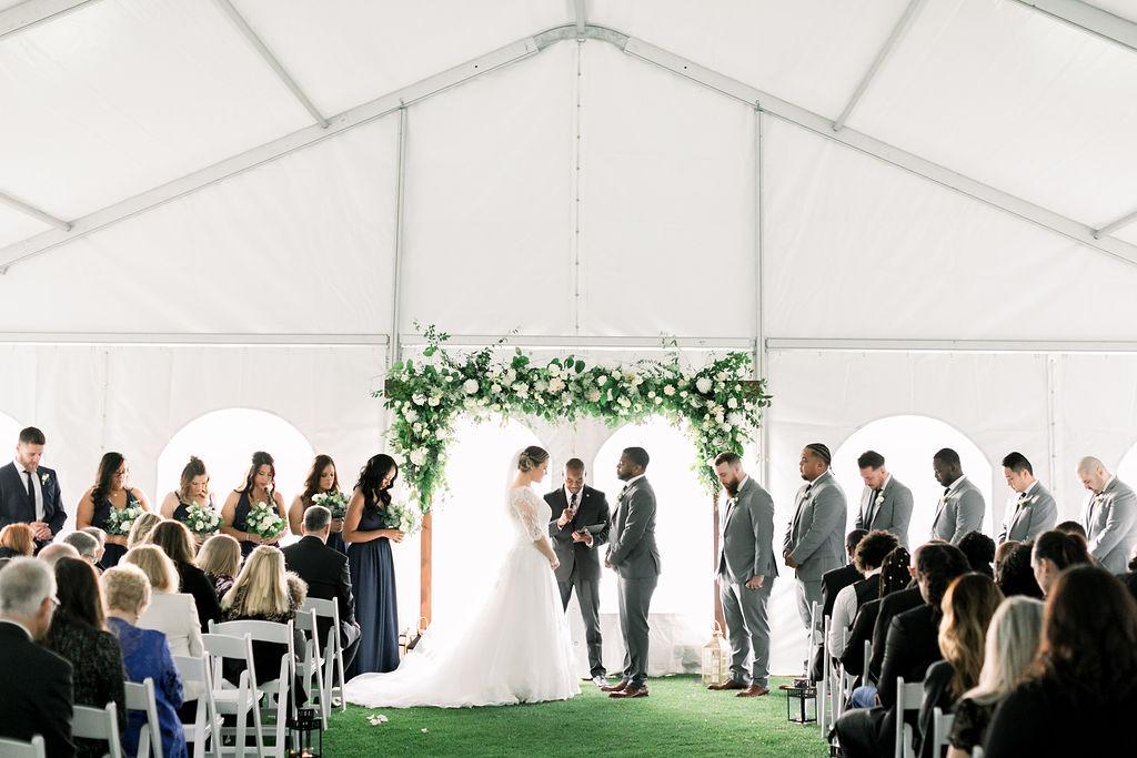 Tent Wedding Ceremony - spunkysapphire.com