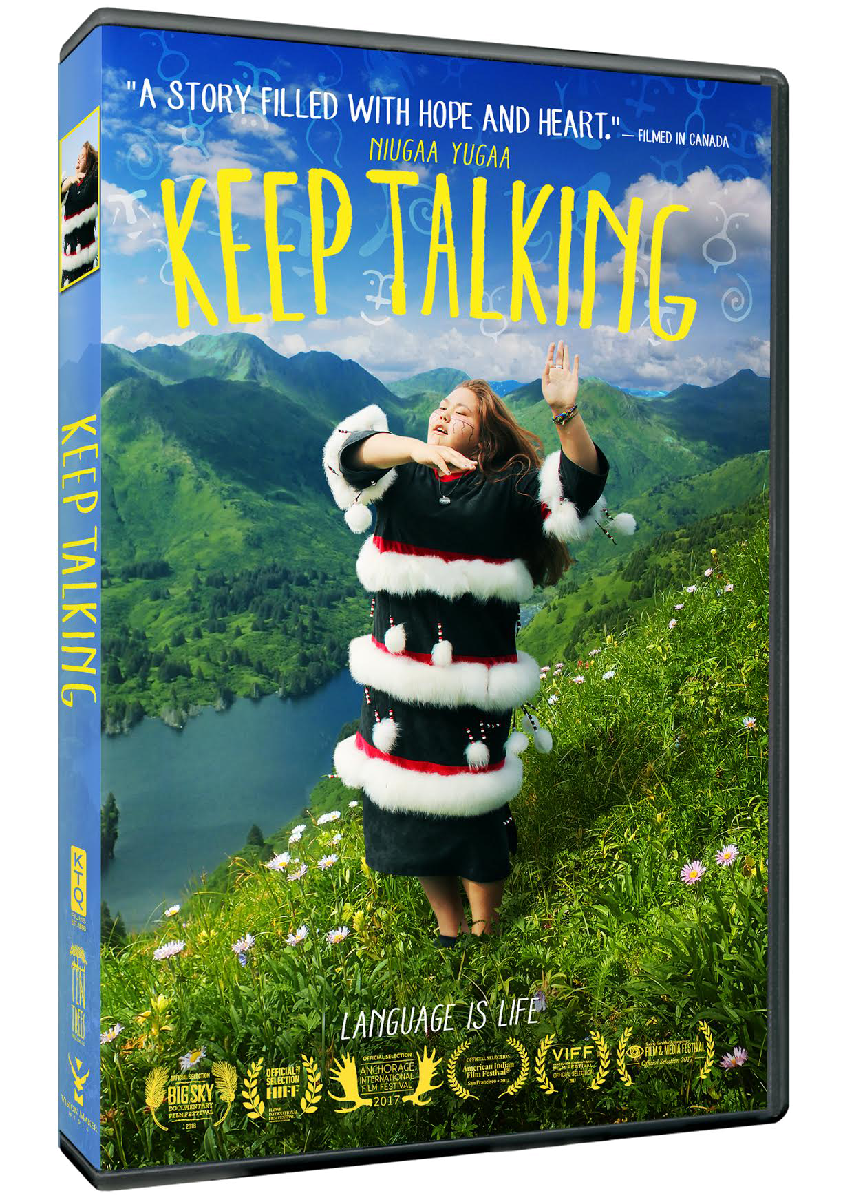 KEEP TALKING on DVD! - For individuals: $24.95For institutions: $295 purchase / $125 rentalDVD includes: - Two versions of the film (79 minute and 57 minute)- English and Spanish subtitles- 18 never-before-seen extra scenes, including A New Word for 'Tweet', Dancing is for Men, and The Eldest Elder