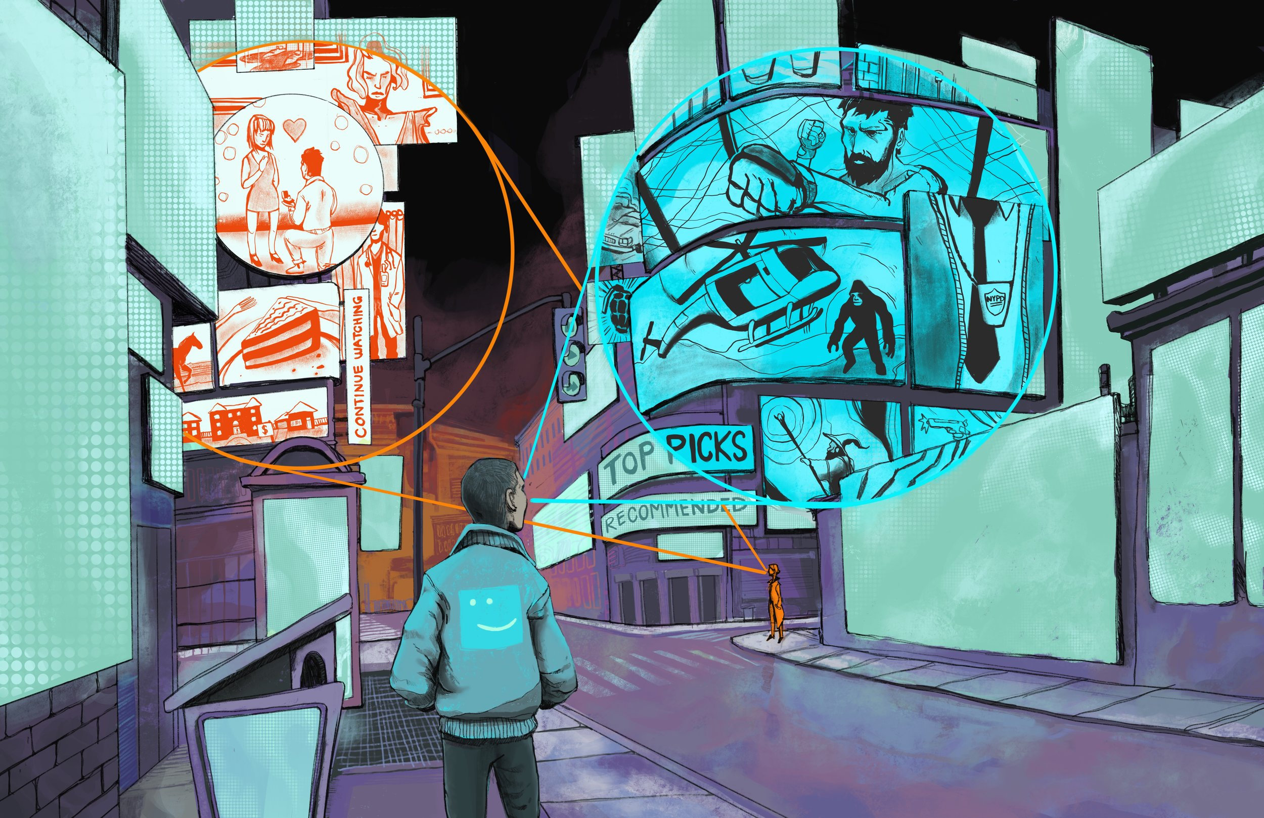 Netflix utilizes sensing cities to cater to viewers on the go.
