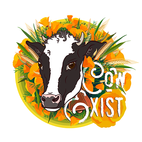 example of potential work! - [Get it? Cow Exist, as in … Co-Exist?]