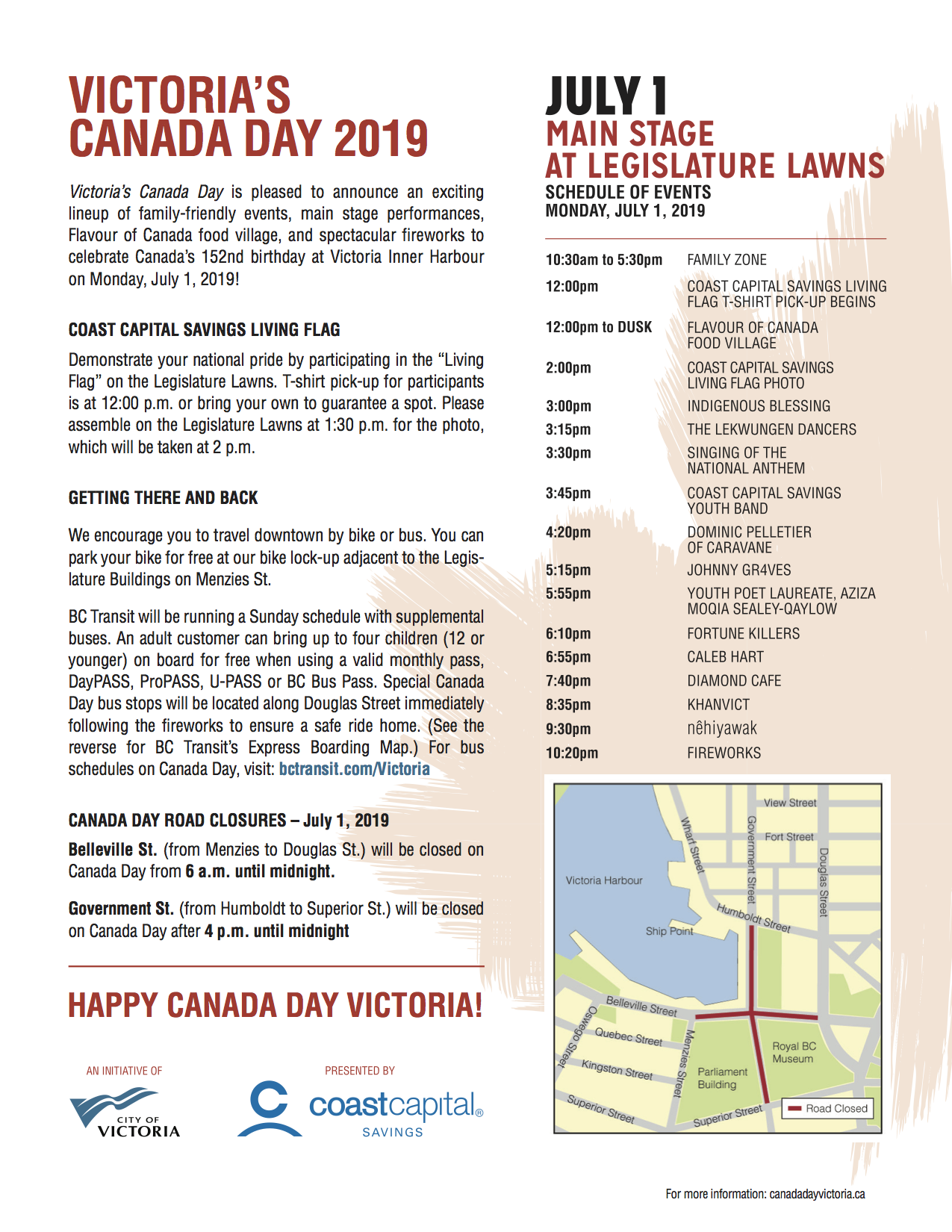 Victoria's Canada Day 2019, Schedule and Map.png
