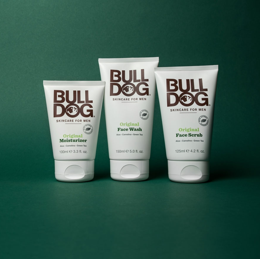 BULLDOG   All our products are purpose built for men and contain amazing natural ingredients. Certified by Cruelty Free International. This is a campaign to end animal testing to cosmetics around the world. Our products never contain ingredients from animal sources. Bulldog is suitable for vegans.