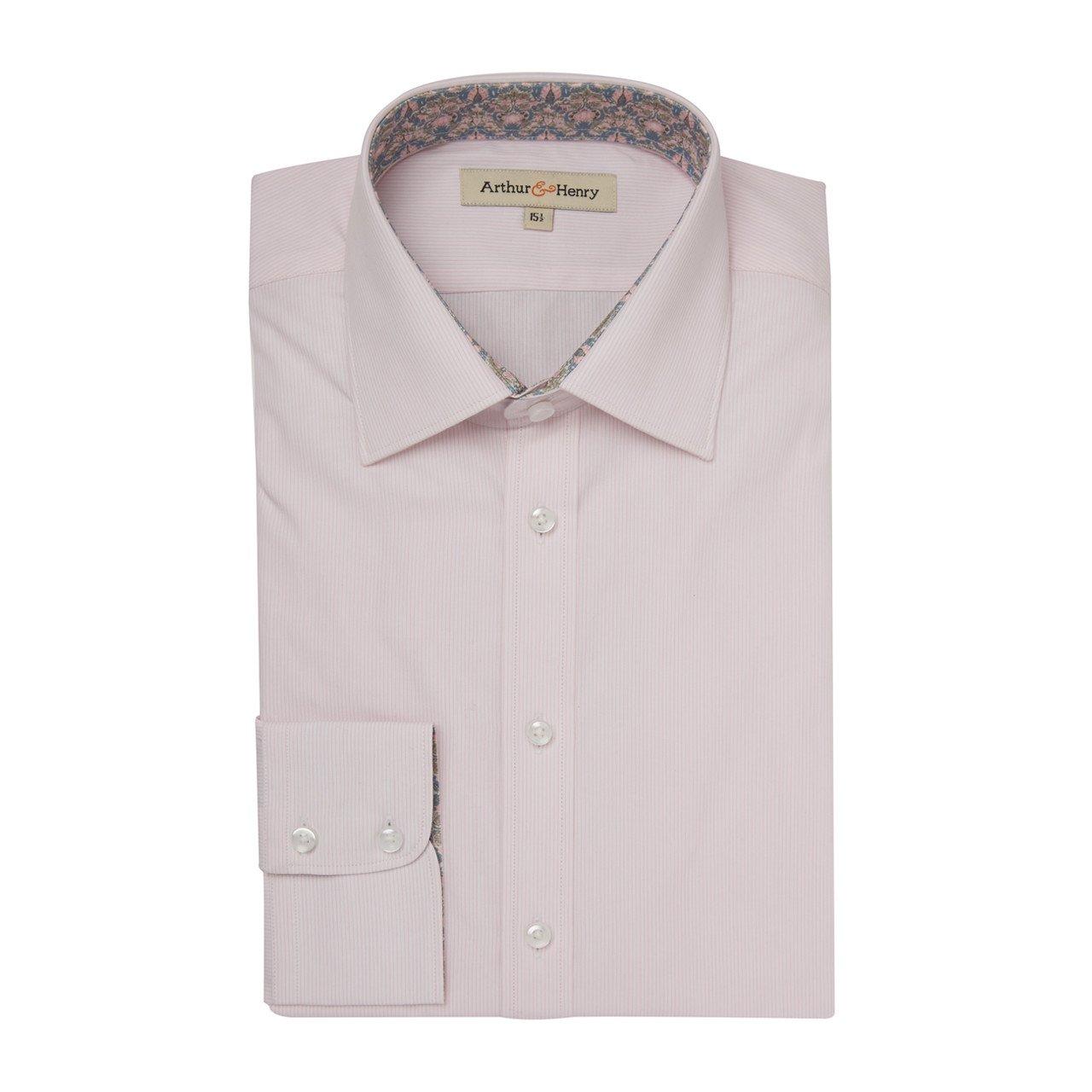 Arthur & Henry - Pink Stripe Organic Cotton Shirt.