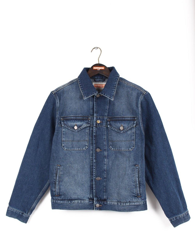 timeless - Organic cotton denim jacket in a dark, vintage wash.Monkee Genes. $80