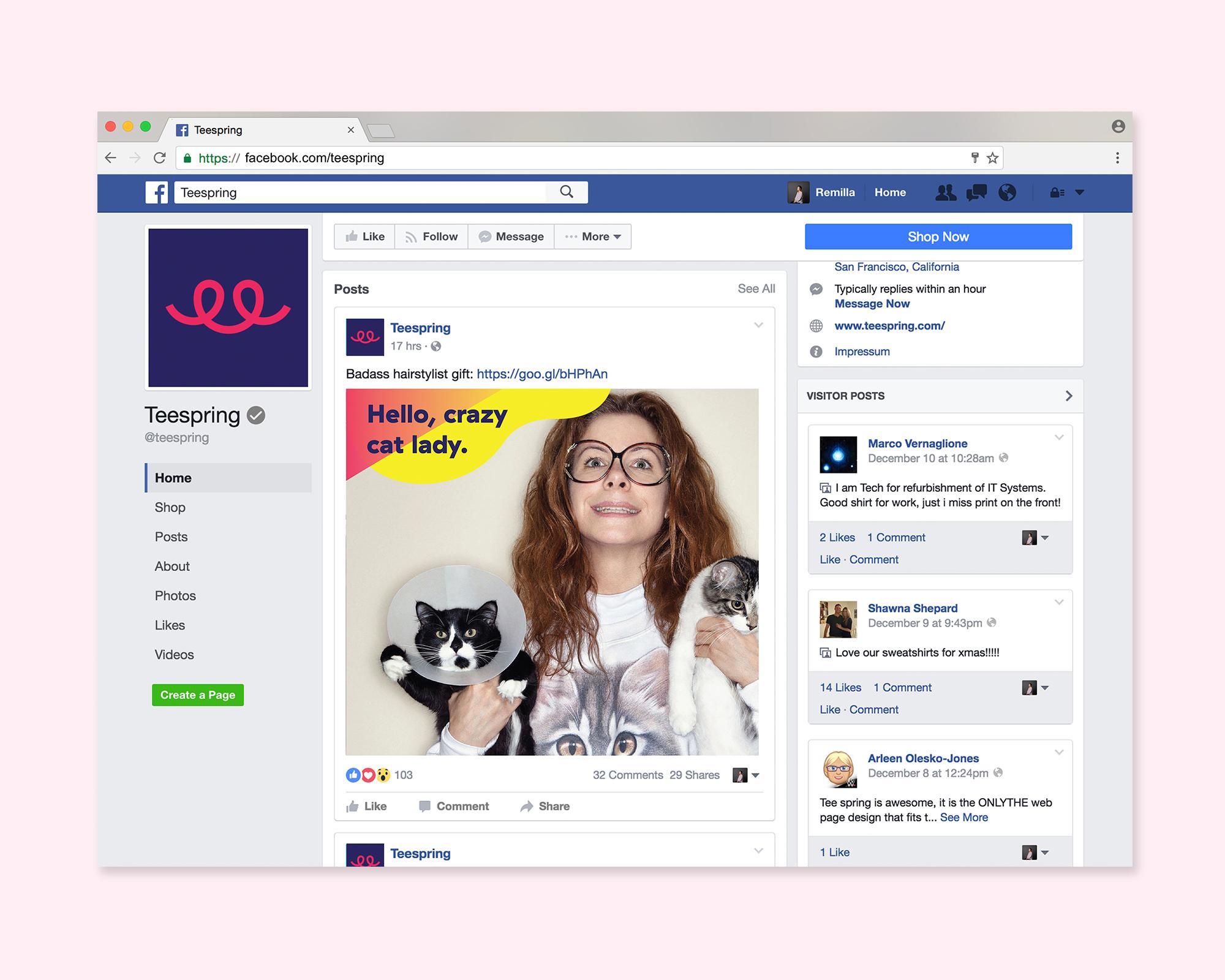 Social media assets featuring branded image uploads