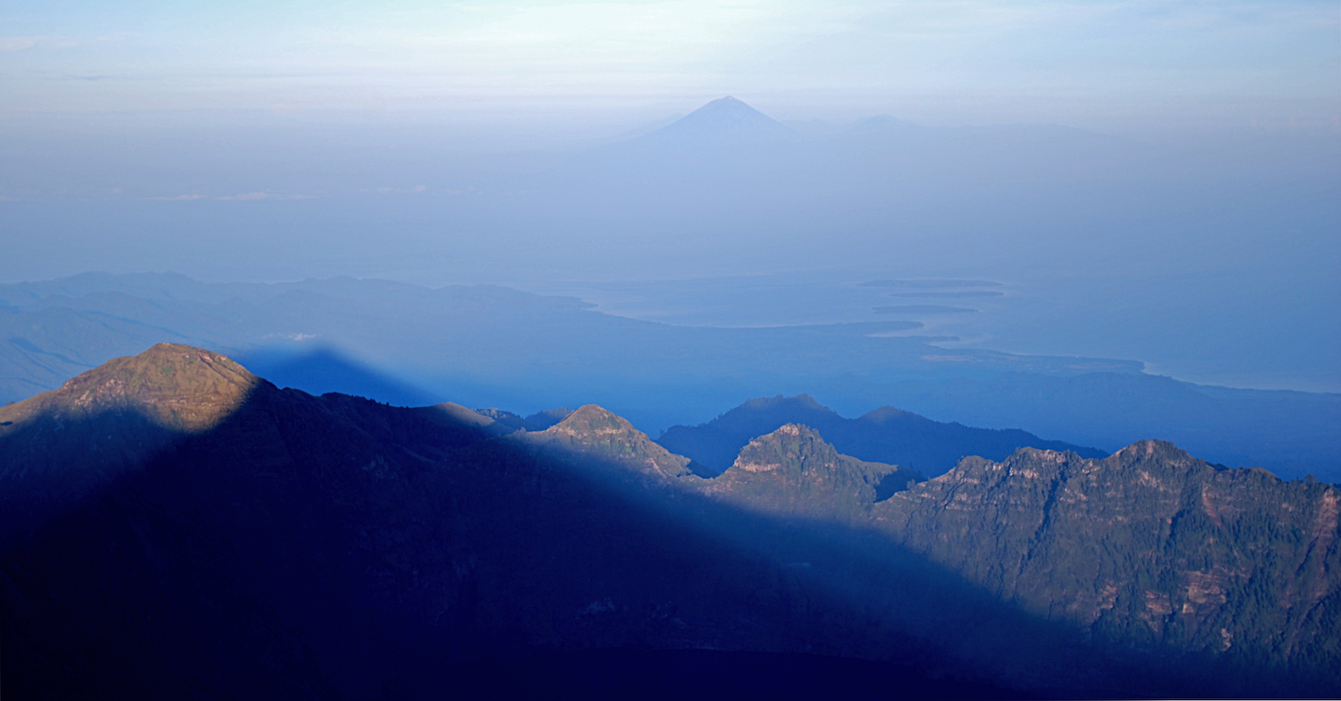 *Mt. Agung (Bali) in the distance.